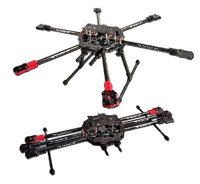 Tarot FY690 Full Carbon Hexacopter 690mm klappbar / Folding landing gear FY690S Hexa Multicopter Frame