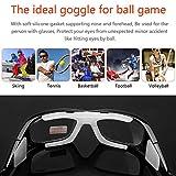 Pellor Radfahrenbrillen Außensportbrillen Schutzbrillen Sportbrillen Einstellbare elastische Wrap Eyewear für Fußball Basketball Tennis-Liebhaber Vergleich