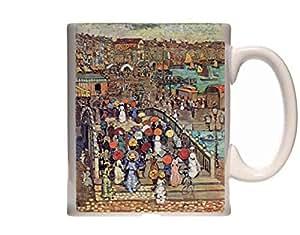Mug Ponte della Paglia Venice Prendergast Impressionism Ceramic Cup Gift Box