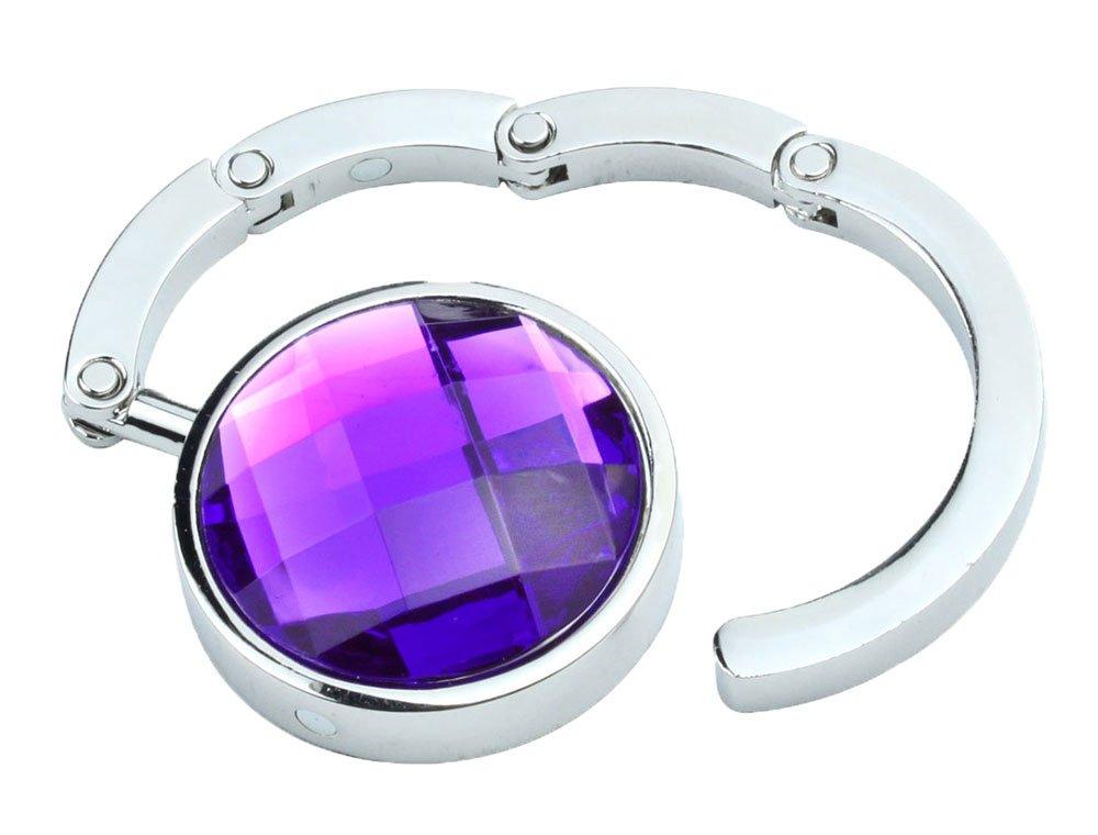 Gancio gancio Borsa Pieghevole Borsa A Mano Moda cristallo colori a scelta viola