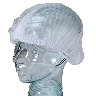 White Hair Net, Food Mop Cap, Catering Hair Net x 100, Non Woven Cap