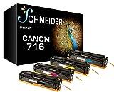 4 SCHNEIDER BUSINESS Toner kompatibel zu Canon 716 / 1980B002 1979B002 1978B002 1977B002 für Canon i-Sensys LBP5050 , Canon i-Sensys MF8030Cn , Canon i-Sensys MF8050Cn , Canon i-Sensys MF8080Cw