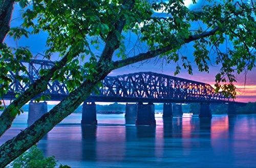 hansepuzzle 15335 Orte - Mississippi-Brücke, 500 Teile in hochwertiger Kartonbox, Puzzle-Teile in wiederverschliessbarem Beutel. - Mississippi-brücke