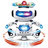 KidzBell Dancing Robot with LED Light and Music, Multi Color