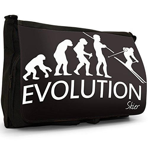 Fancy A Bag Borsa Messenger nero Evolution Of A Skier large Evolution Of A Skier