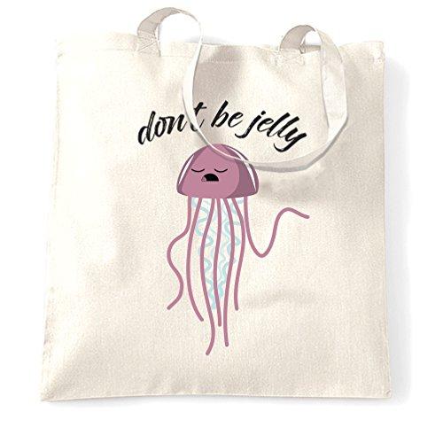 Do not Be Jelly Jealous Medusa Carino Mare Oceano Sacchetto Di Tote White