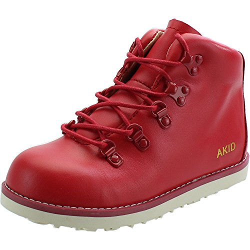 Akid Jasper Red Leather Ankle Boots red