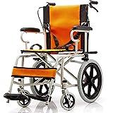 Rollstuhl Tragbarer Transport Faltender Rollstuhl Tragbarer Reise-Stuhl Behinderte Ältere Aufblasbare Handstoß-Rollstuhl