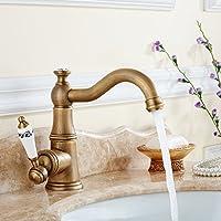 MEICHEN-Full colazione continentale il Rame Antico Bagno Lavelli rubinetti singolo foro acqua fredda può essere ruotata di 360° i raccordi