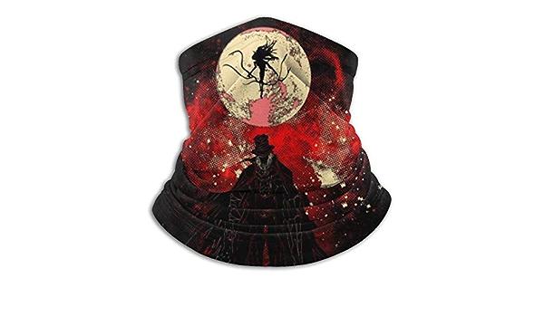 BLANKNTC Neckerchief,Face Scarf,Headwear,Helmet Magic,Neck Gaiter,Moon Presence Silhouette Bloodborne Face Scarf Bandanas For Dust,Outdoors,Festivals,Sports