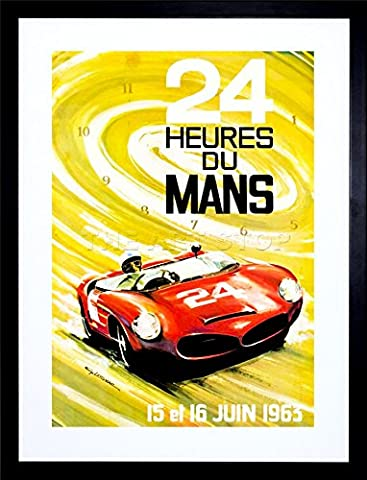 9x7 '' SPORT AD MOTOR LE MANS 24 HOUR CAR CLASSIC FRAMED ART PRINT F97X1092