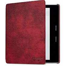 Kindle Oasis Leather Cover, Merlot (Compatible with 9th and 10th Generations)