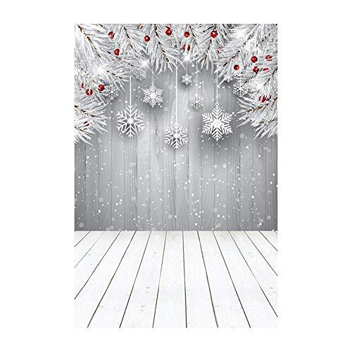 ODJOY-FAN Weihnachten Hintergrund Tuch, Schneemann Hintergründe Vinyl 3x5FT Laterne Hintergrund Studio 3D Fotografie Hintergrund Hintergrund Fotostudio (90x150cm) (C,1 PC)