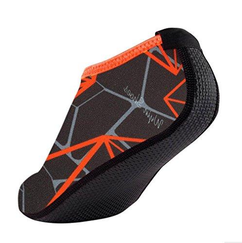 FNKDOR Unisex Fitnessschuhe Aquaschuhe Breathable Schlüpfen Schnell Trocknend Schwimmschuhe Yoga Schuhe für Damen Herren Kinder (44, Grau)