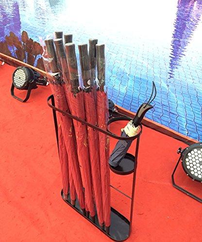 HGNsj Stockage de Parapluie Parapluie Rack Iron Floor Creative Umbrella Barrel Storage Barrel Umbrella Rack-European Home Umbrella Bucket Parapluie médias (Taille : 45 * 14 * 60cm)