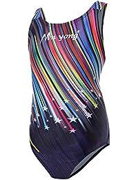 Kinder Mädchen Schwimmanzug Badenmode Badeanzug Einteiler one Piece (eine oder Zwei Größe großer)