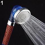 KaariFirefly Bath Shower Head Super High Pressure Boosting Water Saving Filter Balls Beads - Blue