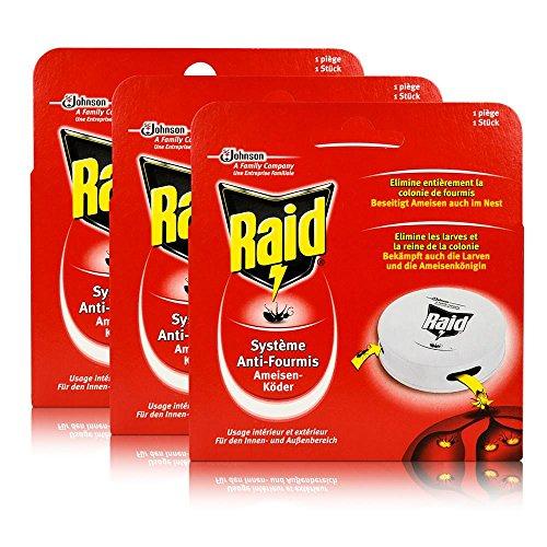 3x Raid Ameisen-Köder - Für den Innen- und Außenbereich
