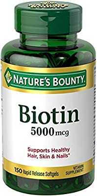 Biotin 5000 Mcg Softgels , 150 Ct. by Nature's Bounty