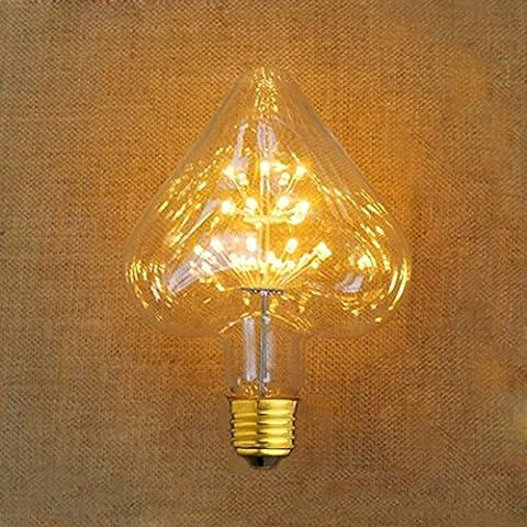 Lampe décorative ampoules, Xinrong Creative Sweet en forme de cœur Ciel étoilé Artifice Arbre LED Edison Ampoule, E273W d'économie d'énergie 120LM Blanc chaud Glow Intérieur bars cafés hôtels Hall Décoration lumière lampe