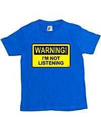 Fancy A Snuggle Warning I'm Not Listening Kids Boys / Girls T-Shirt