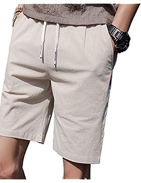 DULEE - Pantalones Cortos de Verano para Hombre, Secado Rápido, para Natación, XXXL, Beige
