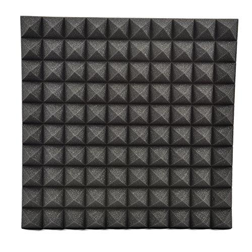 Akustikschaumstoff 50*50cm Akustik Dämmung Pyramiden Akustik Schaumstoff Schallschutzisolierung LianLe (Schwarz)