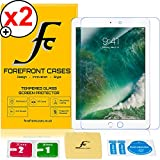 Forefront Cases® [HD CLARIDAD] Protector de Pantalla de Cristal Vidrio Templado del protector de película de la cubierta para Apple iPad 9.7' A1822 2017 Modelo [ULTRA THIN sólo 0,3mm] - PAQUETE DE 2