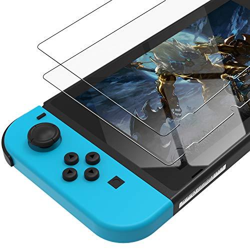 UNBREAKcable 9H-Härte Panzerglas kompatibel mit Nintendo Switch 2017, 2 Stück Schutzfolie HD Panzerglasfolie Anti-Bläschen Displayschutzfolie für Nintendo Switch
