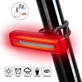 Fahrrad-Rücklicht Fahrrad Rücklicht, West Biking USB wiederaufladbar Ultra Bright Wasserdicht LED Taschenlampe für Bike Rider Sicherheit Zubehör Rücklicht Reflektor, Kinder Herren damen, rot