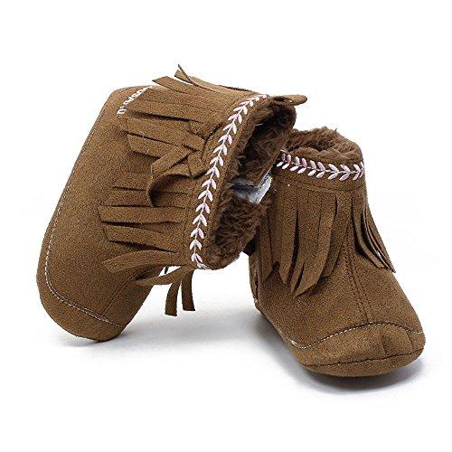 Ouneed® 0-18 mois Bebe Boots Frange 11- 13 (11, Gris) Marron