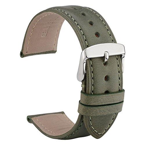 WOCCI 22mm Cinturini per orologi in pelle con fibbia in acciaio...