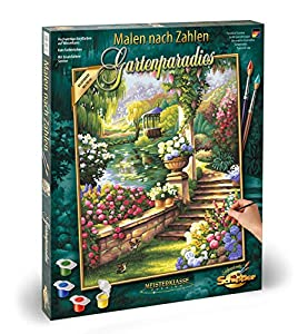 Schipper 9130 379 - Pintura por números (40 x 45 cm), diseño de jardín