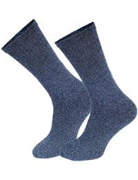 Lot de 6 paires de chaussettes randonnée/trekking - coton - couleur denim ou gris chiné