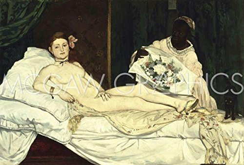 Poster Olympia 1863 von Edouard Manet, 36 x 28 cm