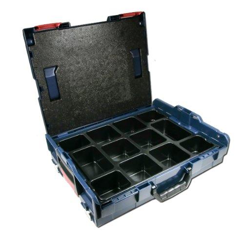 Preisvergleich Produktbild Bosch L-BOXX Größe 1 Sortimo 102 - 3 Stück mit Kleinteileinsatz 12 Mulden