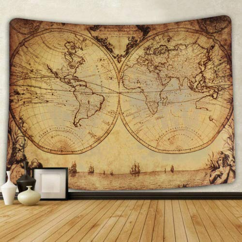 Longxja mappa del mondo, tappezzeria, parete, tappezzeria, hippie, arazzo, mandala, arredamento carta da parati, mappa d'epoca
