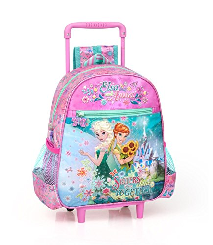 Novità scuola zaino trolley asilo Disney Frozen 'Sisters shine Together' cm 29x25x11