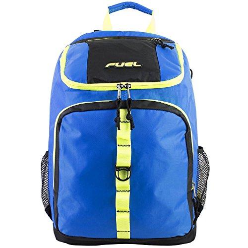 Imagen de fuel  de cargador superior con compartimiento para portátil,  de senderismo,  deportiva,  escolar,  de viaje  azul con bordes azul claro alternativa