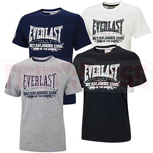 everlast-t-shirt-established-1910-schwarz-l