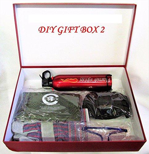 DIY Home Safety Essentials Geschenk-Box 2(Schutzbekleidung) für alle. CE. Inkl. Sicherheits Handschuhe, Knieschützer, Erste Hilfe Set,...