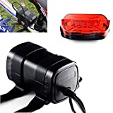 Galwad® 4X 18650 Replacement 8.4v 8800mAh Battery Pack with 5 LED Taillight for Cree Headlamp headlight Bicycle Bike Cycling Light