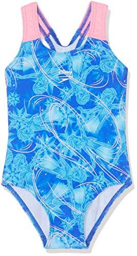 Speedo Mädchen Disney Frozen Allover Badeanzug, ELSA Magic Beautiful Blau/Türkis, 5Years