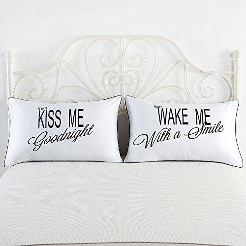 Coppie federe, always kiss me goodnight ... regali romantici anniversario fidanzamento matrimonio san valentino natale cattivo per gli amanti e le coppie