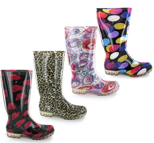 Cotswold by Shoeshoebedo Womens Festival Rain Winter Grip Wellington Boots Fashion Waterproof PVC Wellies