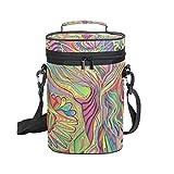 COOSUN Sac de transport isotherme pour crayon de couleur et marqueur avec poignée et bandoulière réglable