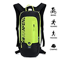 ONENICE 10L Bike Backpack, Waterproof Breathable Cycling Bicycle Rucksack, Mini Ultralight Biking Daypack Mens Womens Pack Sport Bags Gift for Running Hiking Climbing Camping Skiing Biking Trekking