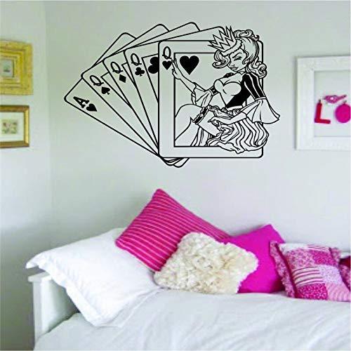 zzlfn3lv Königin-Karten-Wand-Abziehbild-Innenwand-Kunst-Wandgemälde die Versorgungsmaterialien Entwurf 58 * 70cm säubern
