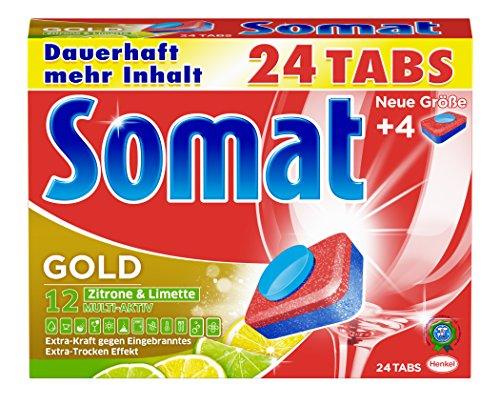 Somat Tabs 12 Gold Zitrone und Limette, 2er Pack (2 x 480 g)