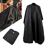 Ghopy kapperskaap met haarborstel, waterdicht professionele salon Cape zwart volledige lengte Cape voor kappers en stylisten